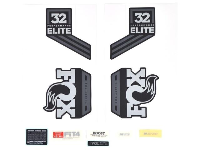 Fox Racing Shox Decal Kit for 32 P-SE grey/matte black